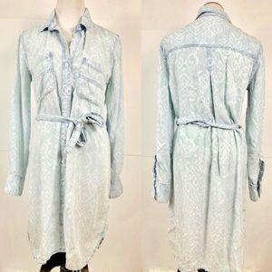Cloth & Stone Small shirt dress tunic belted